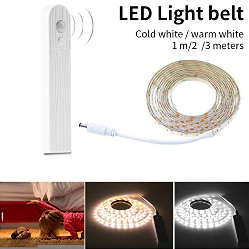 Yukio Baumarkt - Wasserdichte LED Lichtleiste mit Bewegungssensor,LED Bettbeleuchtung Bett Licht, Sofa LED Leuchtband, Motion Sensor Nacht Streifen Licht für Haus Deko (3m Weiß) - Motion-sofa
