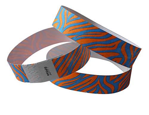 Zebras - 100 nastri di controllo in Tyvek, con stampa colorata