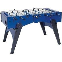 Kickertisch Garlando FOLDY Fussballtisch blau mit sandgestrahlter Glasspielfläche,Tisch-Kicker