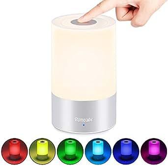 Touch Lampe Nachttisch, Homecube Nachttischlampe LED