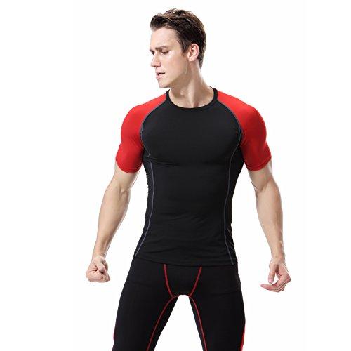 Das Sport Training Baselayer Der Männer T-Shirts Beathable Kurze Anzug M (Pocket-basketball-shorts 3)
