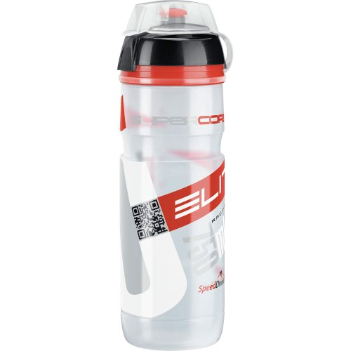 Elite Trinkflasche Supercorsa MTB, Transparent-Rot, 750 ml, FA003514223