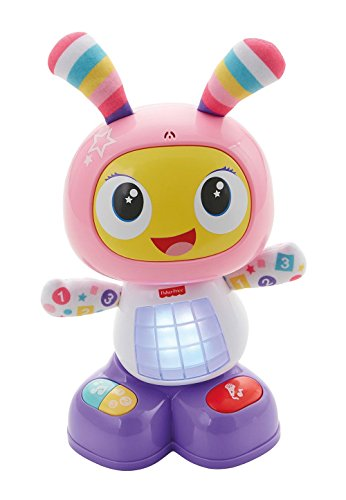 Fisher-Price - Robot interactivo Robita, color rosa y morado (Mattel FBC99)