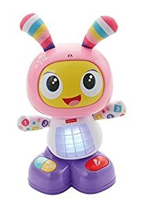 Fisher-Price - Robot interactivo, Robita, color rosa y morado (Mattel FBC99)