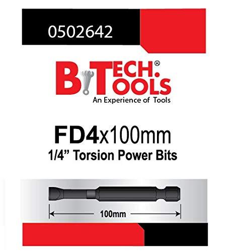 B.TECH TOOLS B. Tech 0502642 ACR Torsions-Bit, Schlitz, FD4.0, 100 mm