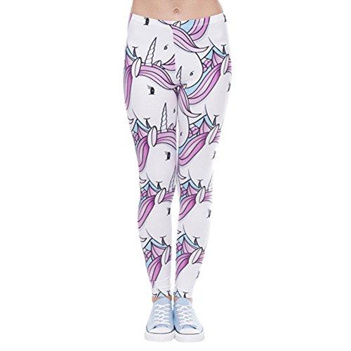 Frauen In Voller Länge Yoga Workout Leggings Thin Capris Einhorn Strumpfhosen One Size (In Strumpfhosen Voller Länge)