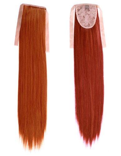 Prettyland - 11772a 60cm estensione dei capelli coda di cavallo treccia lisci clip-in estensioni dei capelli parrucchino - r01