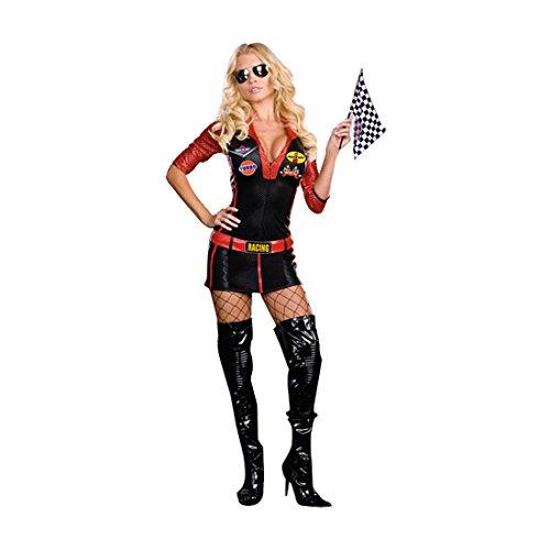 Car Kostüm Sexy Race - Sexy Race Car Driver Fancy dress costume X-Small