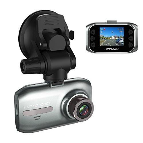"""Foto Telecamera per Auto Dash Cam JEEMAK Full HD 1080P, Schermo 1.5"""", Mini Dashcam Grandangolo - Registrazione Continua, Capteur-G, Rilevazione di Movimento"""