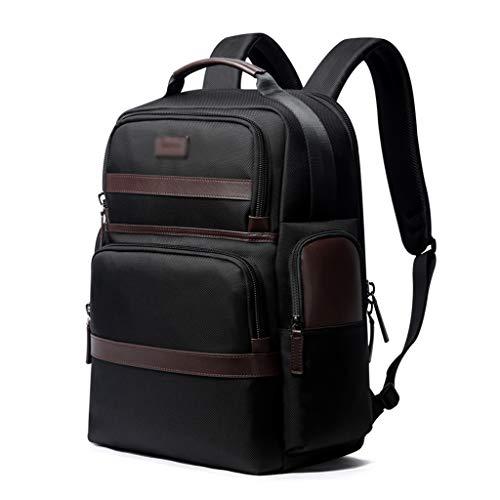 Herren Rucksack, Business Travel Handtasche Buch Brille Aufbewahrungstasche Externes Handy Ladeanschluss (Color : Black, Size : 28 * 19 * 42CM)