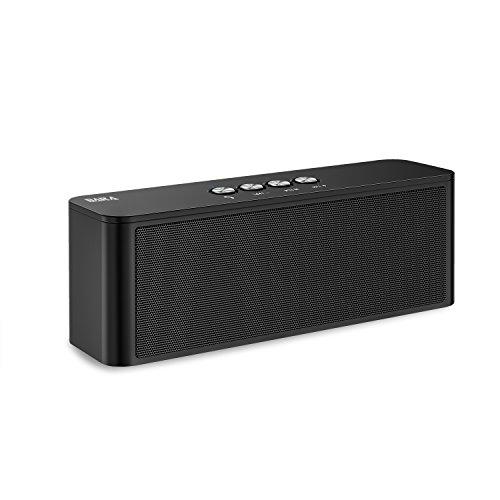 Bluetooth Lautsprecher, BARA S5 Kabellose Speaker, Bluetooth 4.2 Soundbox, Starkem Bass, eingebautem Dual-Treiber, Outdoor Tragbarer Lautsprecher für iPhone, iPad, Samsung(Schwarz)