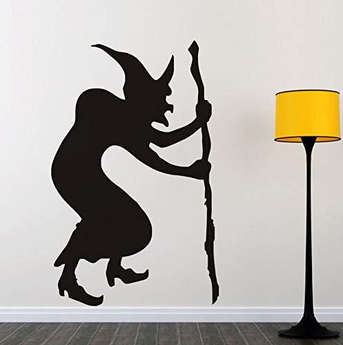 Wandtattoo Buckelhexe Halloween Wandaufkleber, Halloween Wandtattoo, Hexe Silhouette Tapete Halloween Dekoration Home Decor, 29 Cm X 46 Cm
