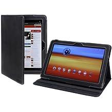 Cover-Up – Funda de cuero para Samsung Galaxy Tab 10.1 Tablet (GT-P7510 / GT-P7500) (versión con soporte) – color negro