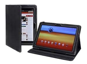 Cover-Up Étui Housse en Cuir pour Samsung Galaxy Tab 10.1 (GT-P7510 / GT-P7500) Tablette (Version abec Support) - Noir