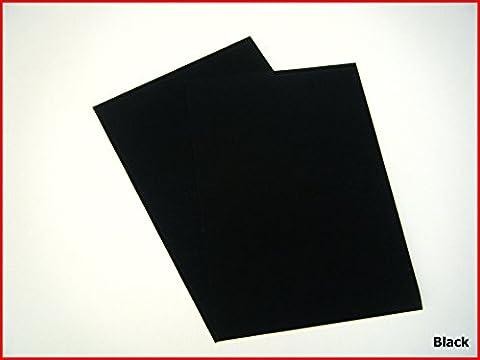 Selbstklebende Rückseite, A4Blatt Filz Samt Velours Craft DC Fix Vinyl Aufkleber schwarz