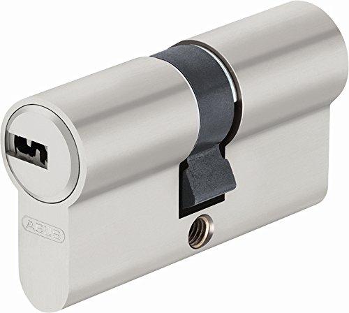 ABUS EC-SNP Cylindre débrayable pour portes extérieures/entrées d'appartement 50 x 50 Nickelé Mat