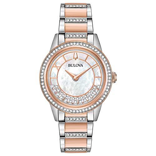 en-Armbanduhr 32mm Armband Edelstahl Zwei Ton Quarz 98L246 ()