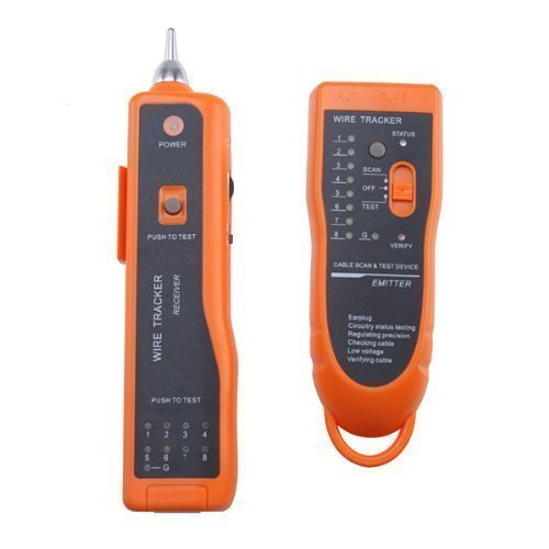 Orange Telephone Network (DecentGadget® Netzwerk LAN Ethernet Telefon Telefonkabel Toner Draht Tracker Tracking System & Tester //Network LAN Ethernet Phone Telephone Cable Toner Wire Tracker Tracking System & Tester)