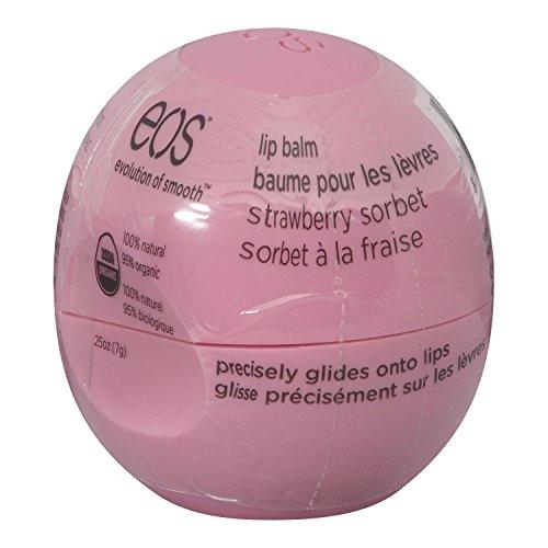 Bálsamo para labios esférico EOS, suave, aroma Strawberry Sorbet