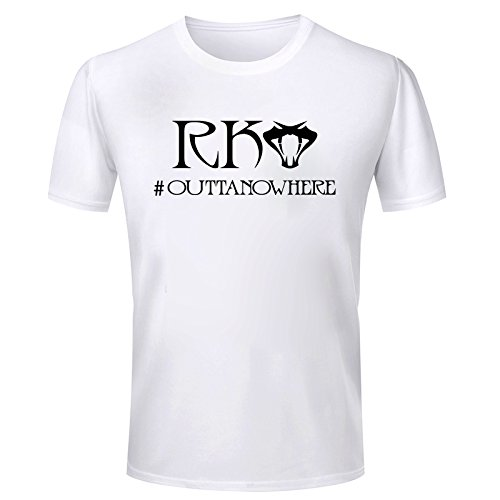 Wild Thunder Half Sleeve Round Neck Wwe Randy Orton Rko Outta No Where Design Graphics Printed Men's Cotton T-Shirt (Sw1742Bx_White_X-Large)  available at amazon for Rs.399