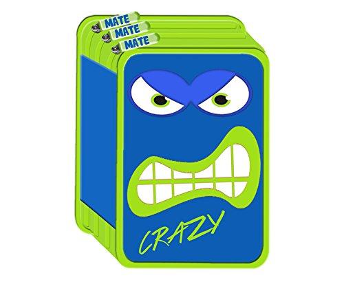 Astuccio 3zip mate 3 zip scuola 2018 completo crazy blu
