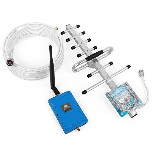ANYCALL Handy-Signalverstärker 2100MHz( Band 1) 70dB Signalverstärker zu Hause und im Büro Set für 3G Groß verstärkt, kleine Geräusche (Klar, Tv-antenne Booster)