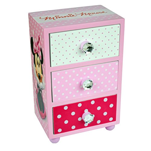 fun-daisy-mouse-bedroom-3-drawer-storage-kids-wooden-box-pink-approx-15cmx10cmx7cm