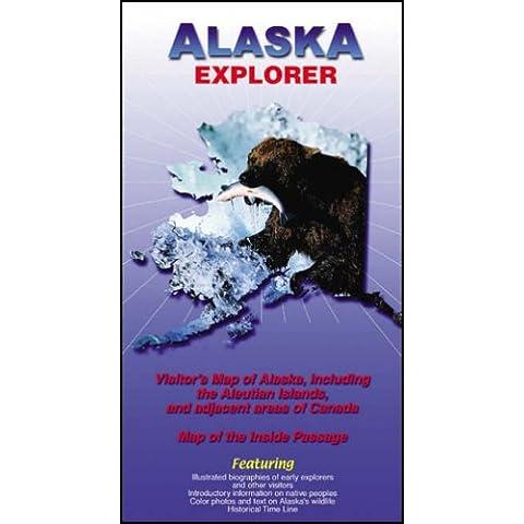 Alaska Explorer: Visitors Map of Alaska, Including
