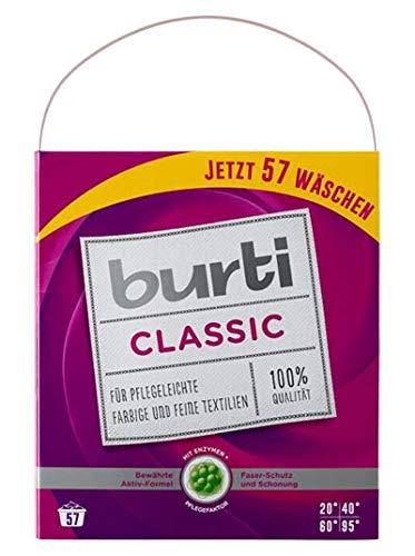 Burti Classic 4,31kg pflegeleichte farbige und feine Waschmittel 57 Wäschen