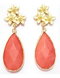 diseño atemporal 78b13 1494c Amazon.es: coral - Pendientes / Mujer: Joyería