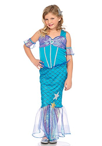 Leg Avenue LO49109 Sea Star Mermaid kinderkostüm, Blau, Large (EUR 146-158) (Rock Star Märchen Kostüm)