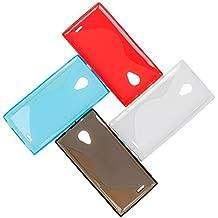 Frlife Original Silicone S - Line Funda Cover Para Doogee DG550 Smartphone (rojo)