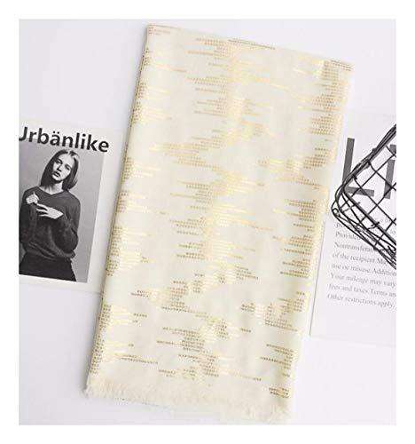 ZXXWJ Blaue Und Schwarze Frauen Baumwolle Schal Warme Winter Schal Solid Shinny Gold Farbe Schal Männer Schal/Tücher, Beige