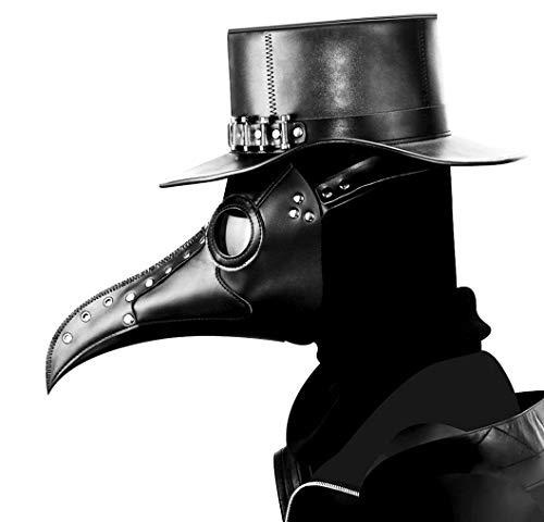WFTD Steampunk Maske Pest Doktor Schnabel Doktor Maske, Gotische Cosplay Requisiten Retro Rock Halloween Party ()
