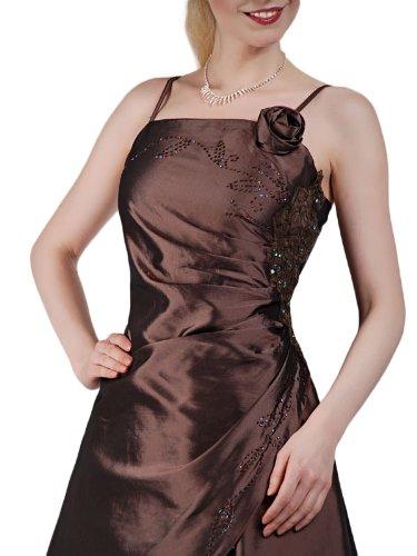 Austen -  Vestito  - linea ad a - Basic - Senza maniche  - Donna Marrone