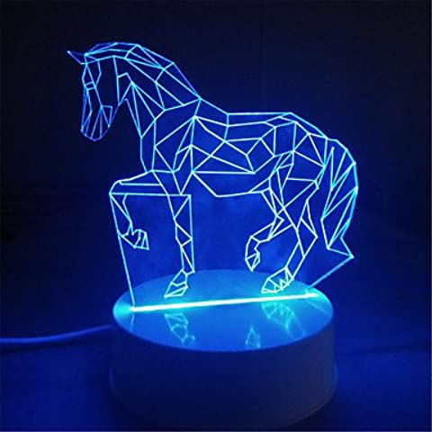 Luci colorate creativi 3d bambini regalo di matrimonio regalo di compleanno Nightlight bambini spina stereo USB lampada da letto stanza