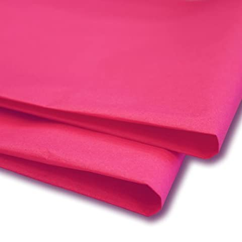 100 x Hot Pink Tissue Paper / Gift Wrap / Wrapping Paper Sheets (20