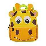 Litthing Zainetti per Bambini Zaino Bambino Satchel Scuola Asilo Mini Zaino per Bambini Carino Primario Piccolo Asilo Nido PreSchool Ragazzi o Ragazze Hop Zoo 2-7 anni (Giraffa, 21 * 8 * 26CM)