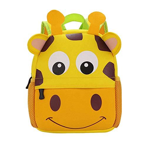 Litthing zainetti per bambini zaino bambino satchel scuola asilo mini zaino per bambini carino primario piccolo asilo nido preschool ragazzi o ragazze hop zoo 2-7 anni (giraffa, 21*8*26cm).
