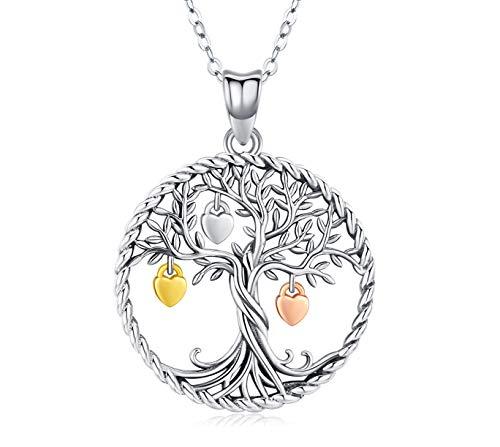 Collana Donna Albero della vita Ciondolo Argento 925 Gioielli Donna