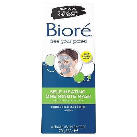 Bioré Self Heating One Minute Mask, 4 Masks