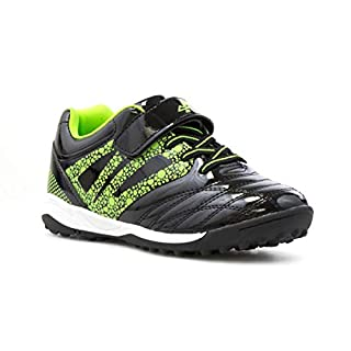 Ascot Kids Astroturf Trainer in Lime and Black - Size 2 UK - Black