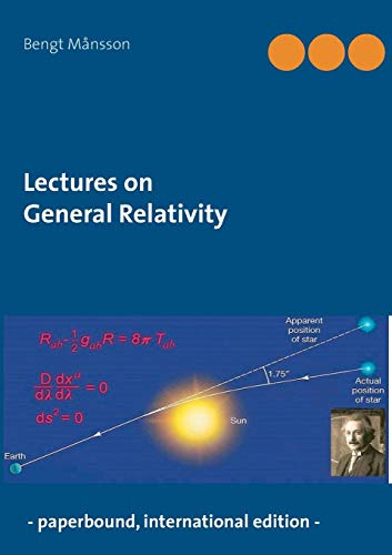 Lectures on General Relativity par Bengt Mansson