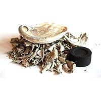 Natürliches Wisch- und Reinigungsset mit Abalone-Muschel, Salbei und Kohle, in wunderschöner Geschenkverpackung preisvergleich bei billige-tabletten.eu