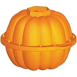 Lékué Celebrate Halloween - Molde, diseño calabaza 3D, 2300 ml, color naranja