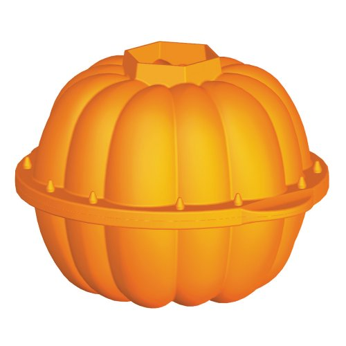 Lékué Celebrate Halloween - Molde, diseño calabaza 3D, 2300 ml, color naranja