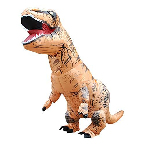 blasbare Kleidung Dinosaurier aufblasbaren Kleidung Anzug,Brass,XXL ()
