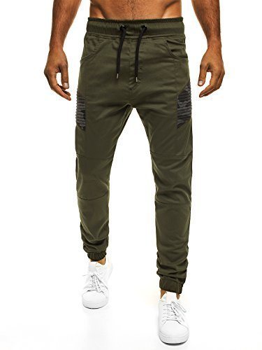 OZONEE Uomo Jogger Chino Jogging Pantaloni Cascante Pantaloni Sport Jogging Fitness ATHLETIC 706 - cotone, Verde, 100% cotone 100% cotone.\n\t\t\t\t, Uomo, XL