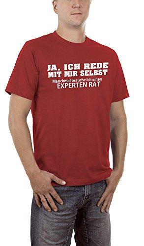 Touchlines Herren T-Shirt Ja, Ich Rede mit Mir Selbst, Rot (Brickred 02), XXXXX-Large