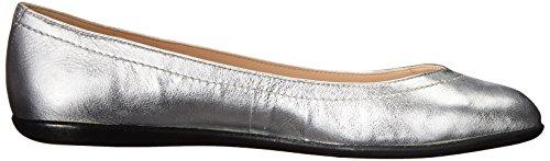 Ballet Nine West Zarong Metallic Flat silver